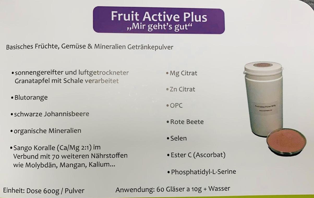 Basisches Getränkepulver Fruit Active Plus
